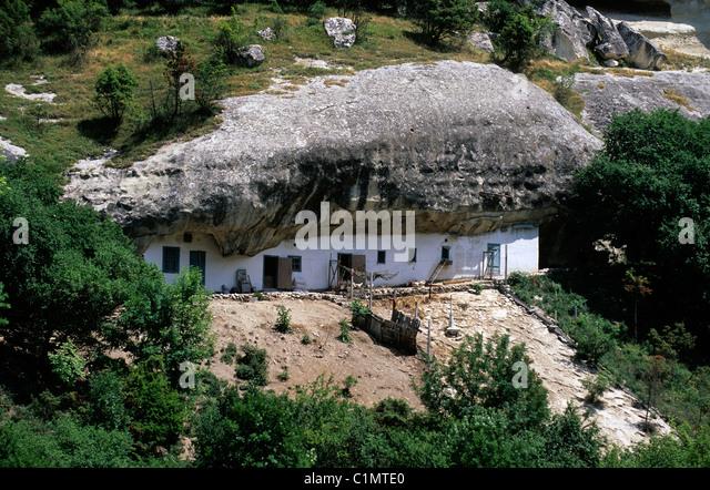 Ukraine, Crimea, Tchoufout-Kale cliffs - Stock Image