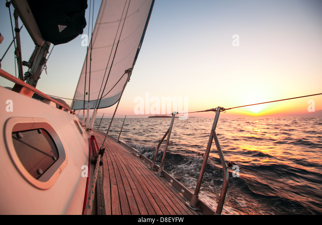 Sailing regatta in Greece - Stock Image