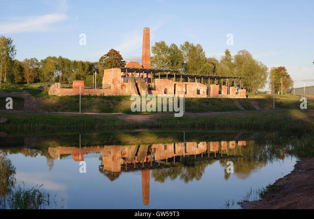 Preserved ruins of Raadi manor distillery territory of the Estonian National Museum. Tartu, Estonia; Baltic States, - Stock Image