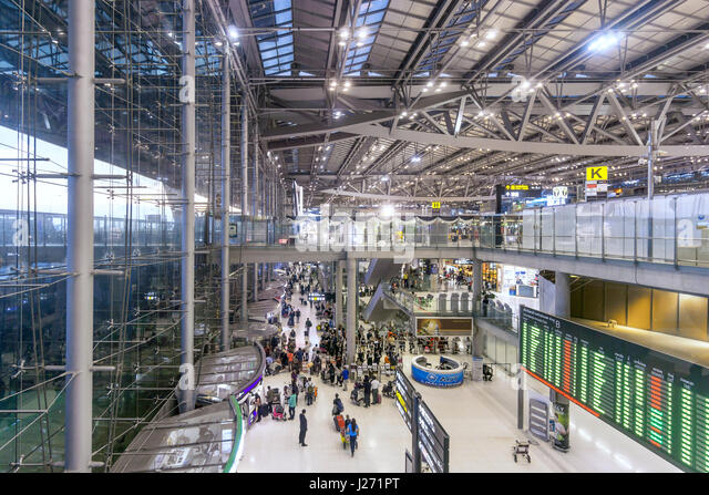New Suvarnabhumi Airport , New Hub of South East Asia , Bangkok, Asia - Stock Image