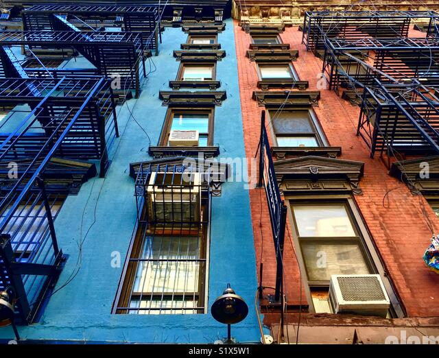 Colorful Buildings of the East Side in Manhattan - Stock Image