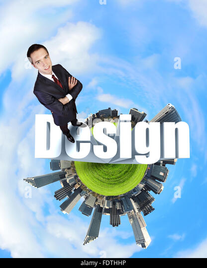 Design and creativity  in business concept illustration - Stock Image