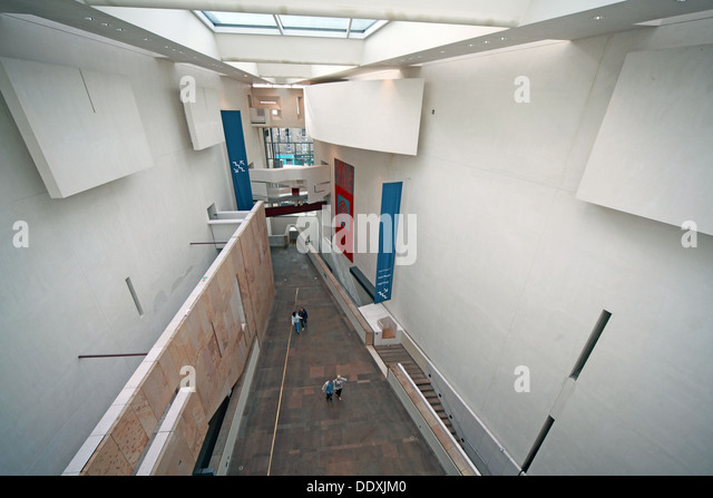 Modern interior of the National Museum of Scotland, Chambers St Edinburgh city, Scotland UK EH1 1JF - Stock Image