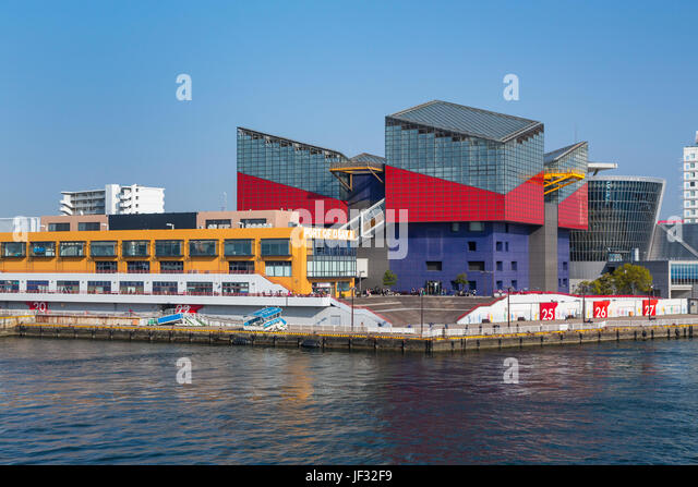 The aquarium building at the port of Osaka, Japan. - Stock Image