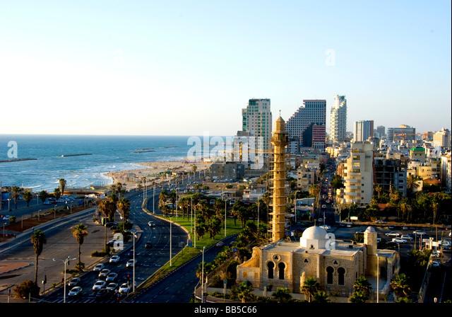 tel aviv skyline, Israel - Stock Image