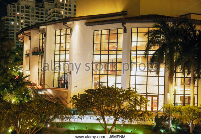 Fort Lauderdale Florida Ft. Broward County Performing Arts Center - Stock Image