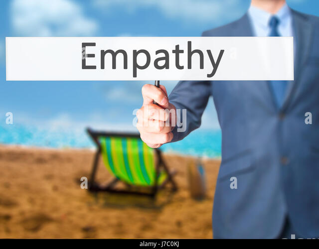 Empathy - Businessman hand holding sign. Business, technology, internet concept. Stock Photo - Stock Image