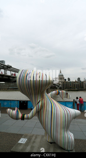 Arty Wenlock near the Tate Modern Art Gallery during the 2012 Olympics South Bank London, England, UK - Stock Image