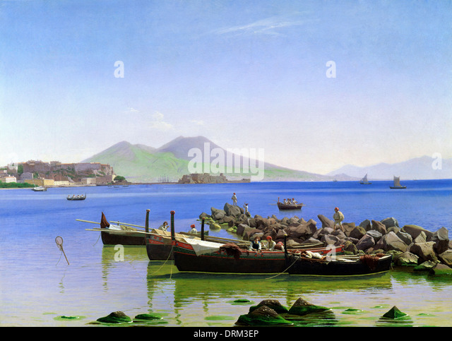 Christen Kobke, Bay of Naples 1843 Oil on canvas. Toledo Museum of Art, Toledo, Ohio, USA. - Stock-Bilder