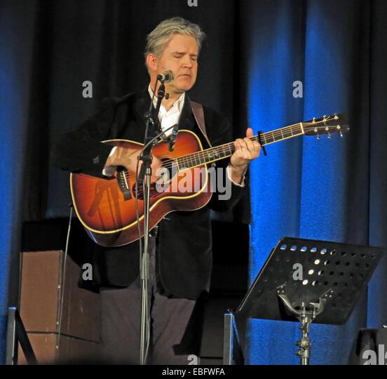 Lloyd Cole live Warrington Parr Hall, Cheshire, England, UK acoustic set 30/11/2013 - Stock Image