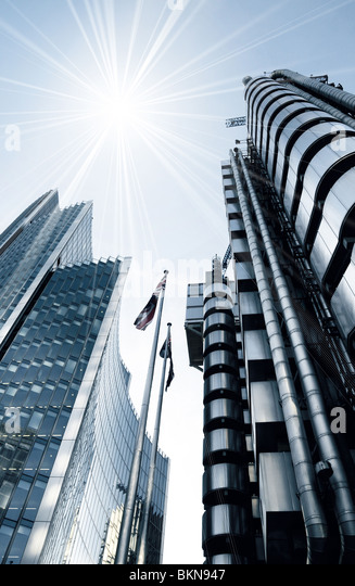 Contemporary architecture design - London UK - Stock Image