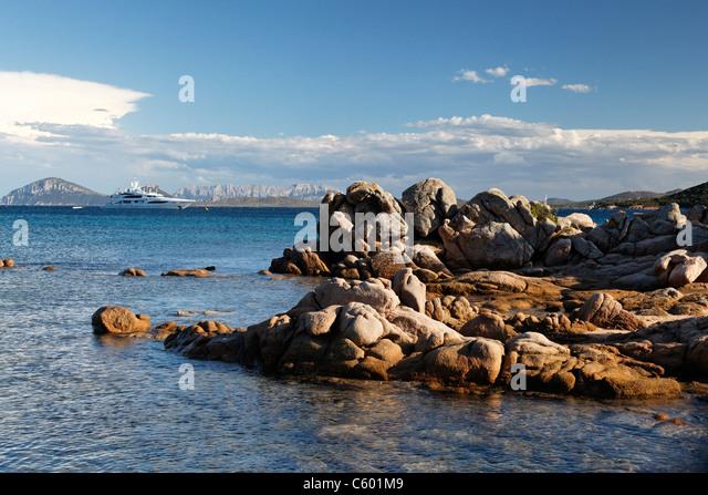 Cala Liscia Ruia Sardinia Italy - Stock Image