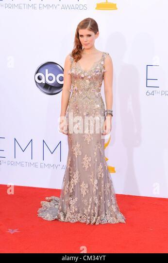 Kate Mara arrivals64th Primetime Emmy Awards - ARRIVALS Nokia Theatre L.A LIVE Los Angeles CA September 23 2012 - Stock-Bilder