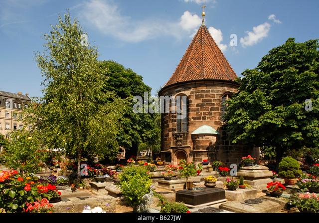 Johannis graveyard, St. Johannis area, Nuremberg, Middle Franconia, Bavaria, Germany, Europe - Stock Image