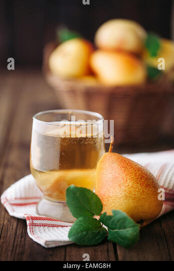 Homemade organic pear cider - Stock Image