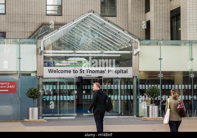 St.Thomas' Hospital, Borough of Lambeth, London, England, U.K. - Stock Image