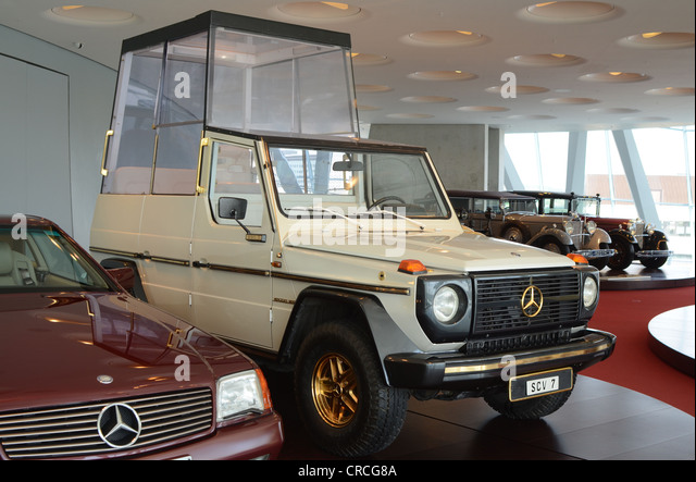 Luxury Cars of Celebrities exhibited in Mercedes Museum - Stock Image
