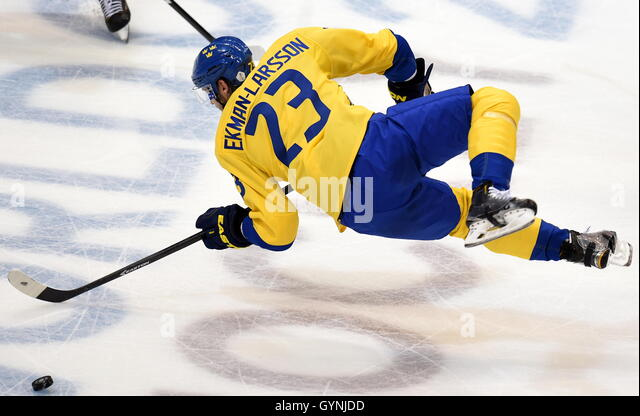 TORONTO, CANADA – SEPTEMBER 18, 2016: Sweden's Oliver Ekman-Larsson in action in the 2016 World Cup of Hockey - Stock Image