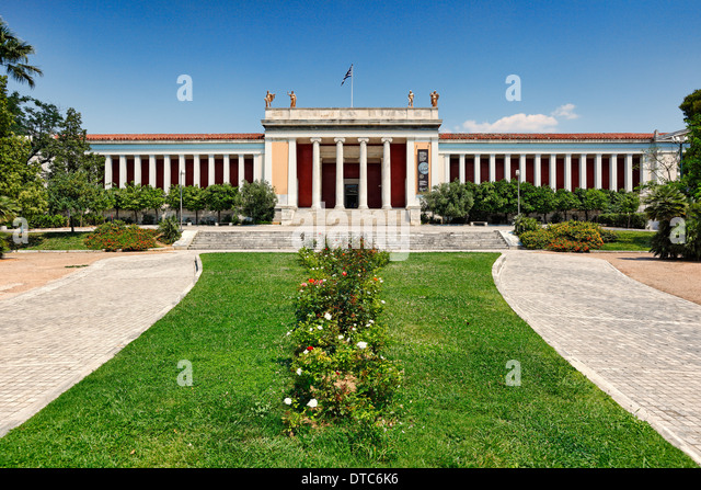 The National Archaeological Museum of Athens, Greece - Stock Image
