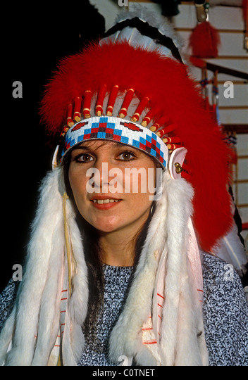 French People Students Lycee Charlemagne Stock Photos: Sioux Headdress Stock Photos & Sioux Headdress Stock