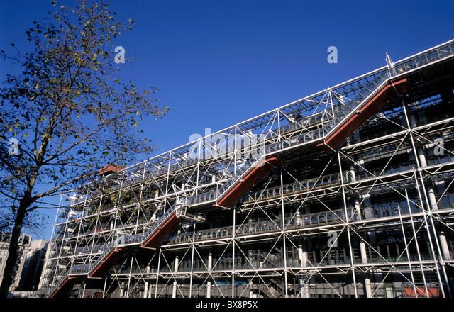 The Centre Georges Pompidou, Paris, France. - Stock Image