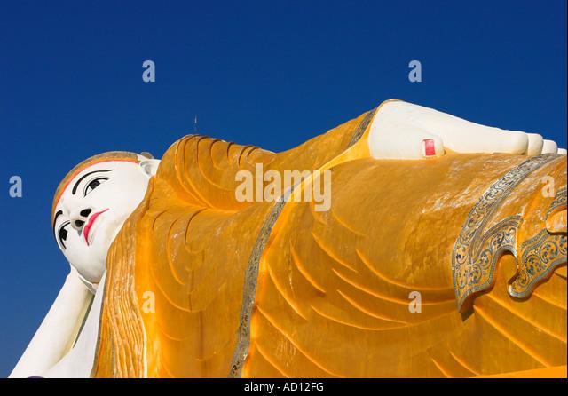 Myanmar, Sagaing Region, Monywa, Reclining Buddha - Stock-Bilder