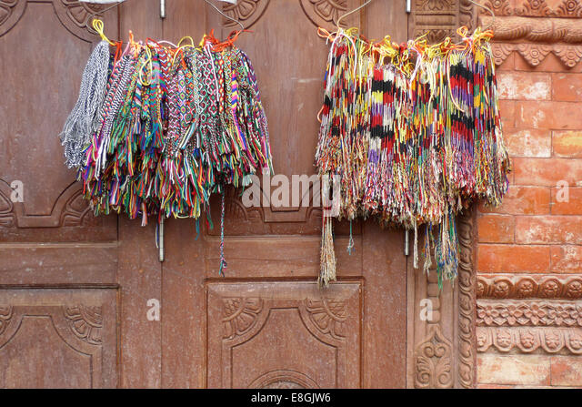 Colorful bracelets - Stock Image