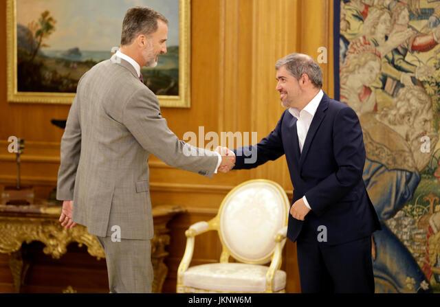 Madrid, Spain. 24th July, 2017. King Felipe VI of Spain during a audience with Unai Sordo Calvo at the Palacio de - Stock Image