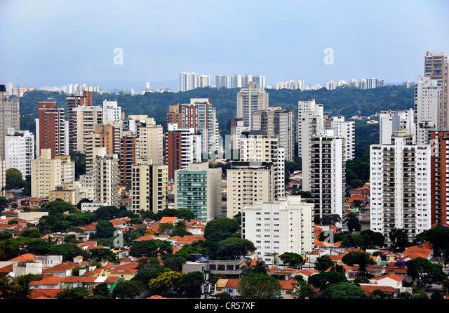 High-rise buildings, Sao Paulo, Brazil, South America - Stock Image
