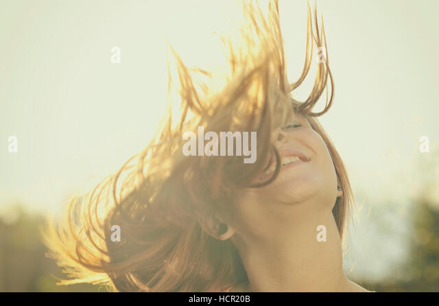 Beautiful woman portrait - Stock Image