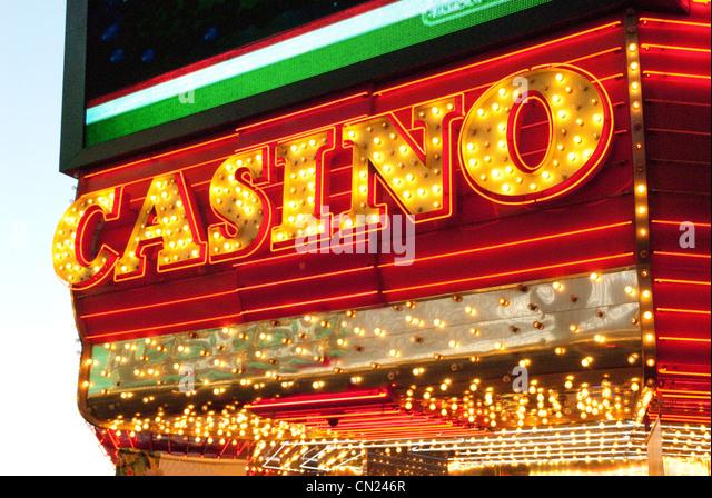 Casino sign, Las Vegas, USA - Stock Image