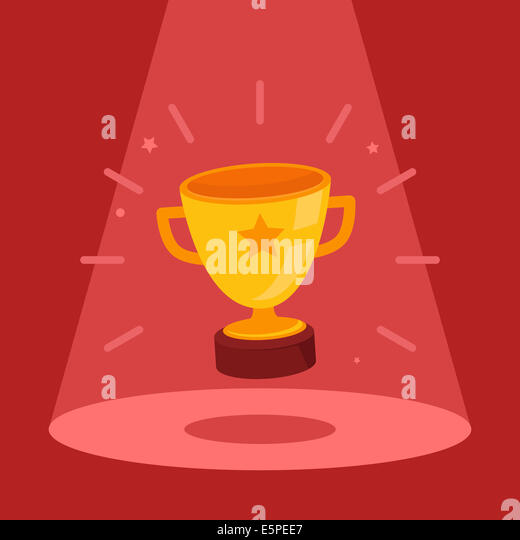 Victory concept - flat bowl icon in the spotlight - Stock-Bilder