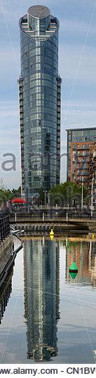 Portsmouth Gunwarf Tall Building Vertical Panorama - Stock Image