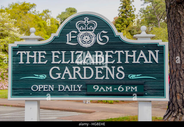 Elizabethan Gardens Manteo NC - Stock Image