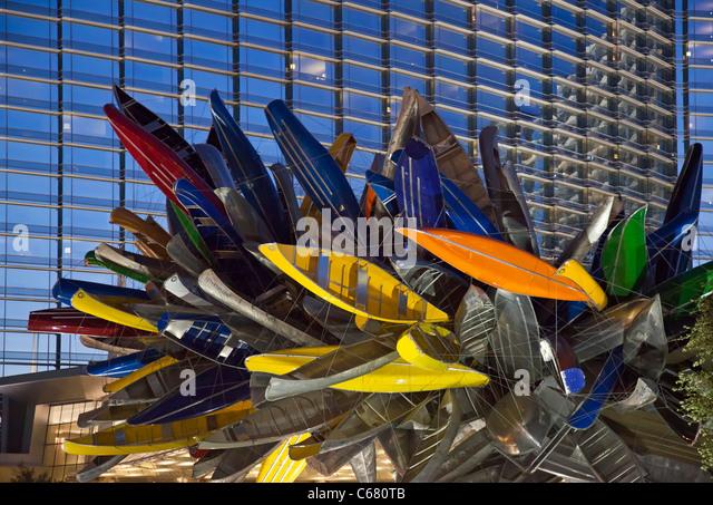 'Big Edge' Canoe Sculpture in Las Vegas - Stock Image