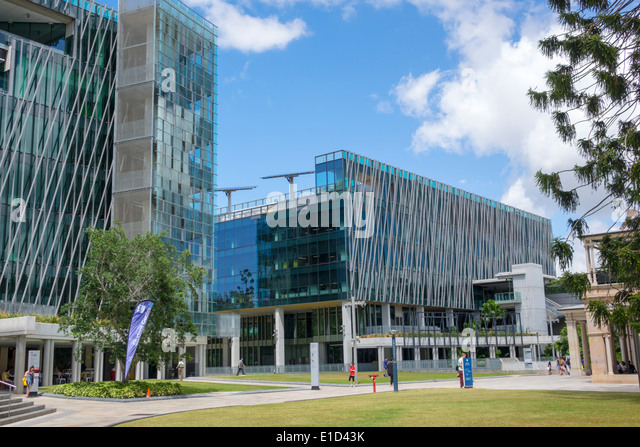 Brisbane Australia Queensland Central Business District CBD QUT Queensland University of Technology Garden Point - Stock Image