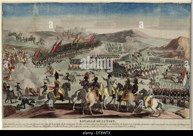 The Battle of Lützen, 1813. Artist: Anonymous - Stock Image