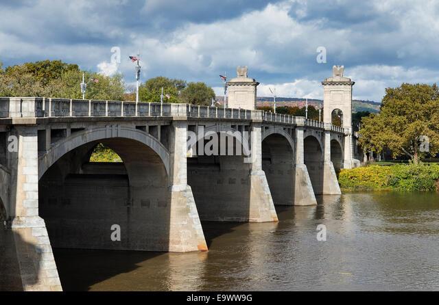 Market Street Bridge, Wilkes-Barre, Pennsylvania, USA - Stock Image