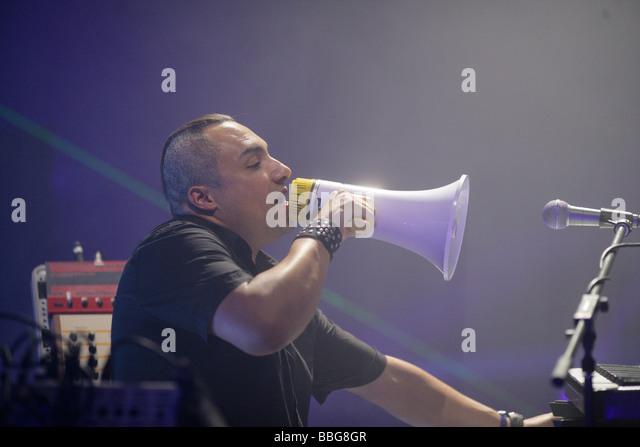 DJ Westbam, Mayday Techno Festival, Westfalenhalle concert venue, Dortmund, North Rhine-Westphalia, Germany, Europe - Stock-Bilder