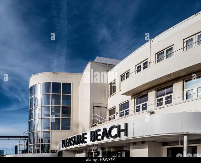 Pleasure Beach sign, Blackpool, Lancashire, UK. - Stock Image
