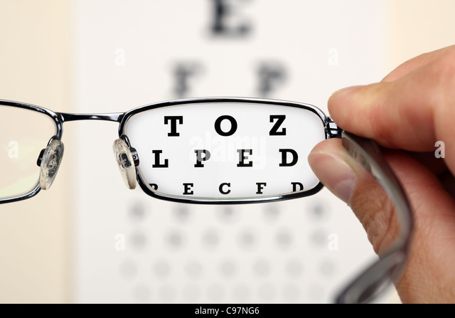 Eye test - Stock Image