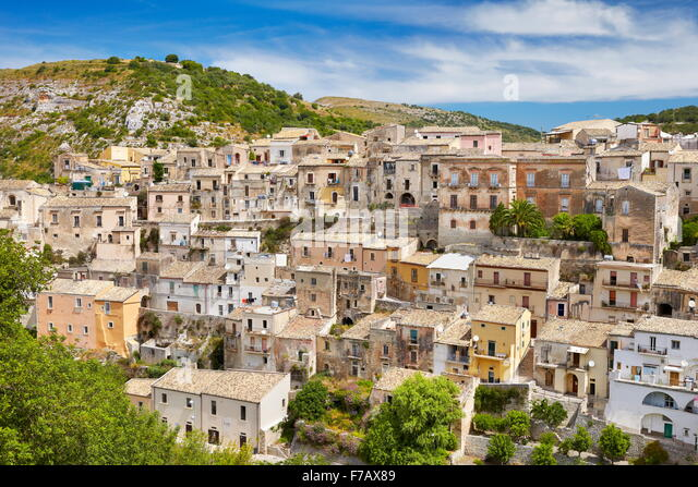 Ragusa Ibla (Lower Town), Sicily, Italy UNESCO - Stock Image