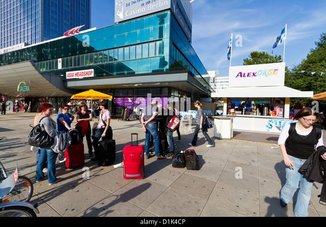 Everyday Life on Alexanderplatz in Berlin, Germany - Stock-Bilder