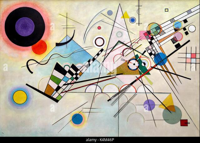 Composition 8, by Vasily Kandinsky, 1923, Solomon R. Guggenheim Museum, Manhattan, New York City, USA, North America - Stock Image