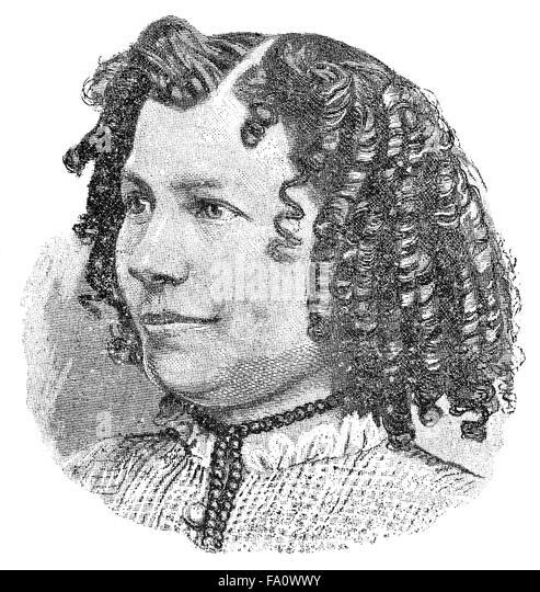 Eugenie John, pseudonym E. Marlitt, 1825-1887, a popular German novelist, - Stock-Bilder