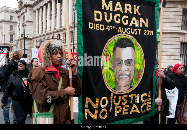 Mark Duggan was shot by police  in 2011. His death started the riot summer riots.  14th Annual  Friends & Family - Stock Image