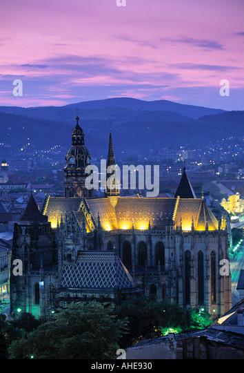 St. Elizabeth Cathedral, Kosice, East Slovakia - Stock-Bilder