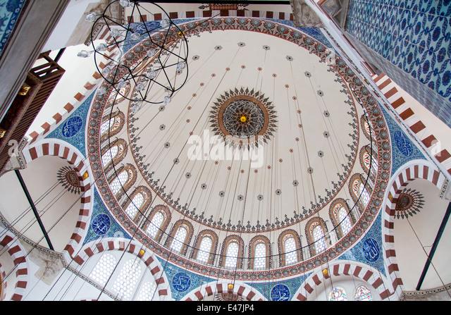 Rustem Pasha Mosque in Istanbul - Stock Image