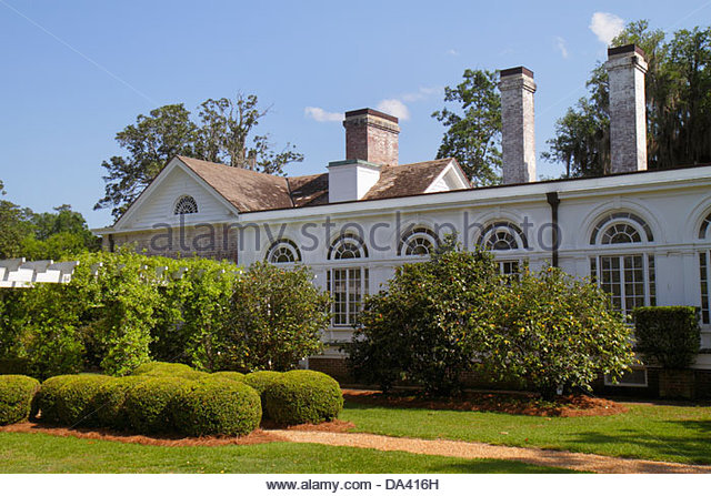 Georgia Thomasville Pebble Hill Plantation sporting country estate Main House - Stock Image
