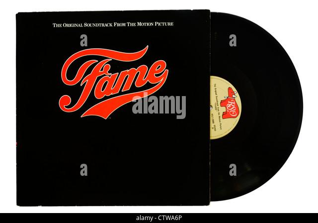 Fame film soundtrack album - Stock Image